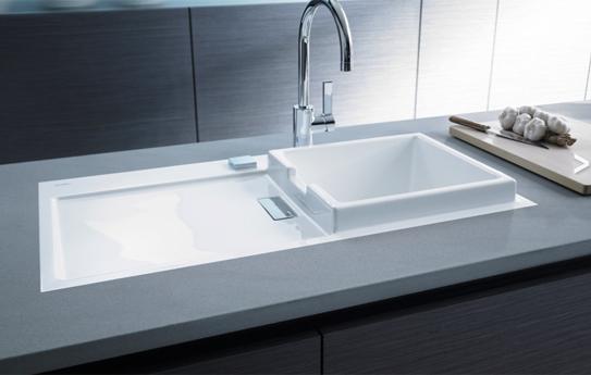 Flush Kitchen Sink : Starck K Flush Mounted Kitchen Sink 870mm Starck K 50 R-7510900027