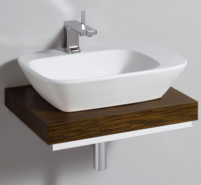 Twyford Vello Countertop 570mm Basin And 600mm Shelf