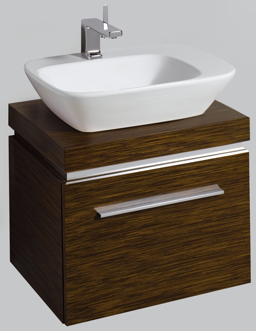Countertop Shelf : Twyford Vello Countertop 570mm Basin With 600mm Shelf And Vanity Unit