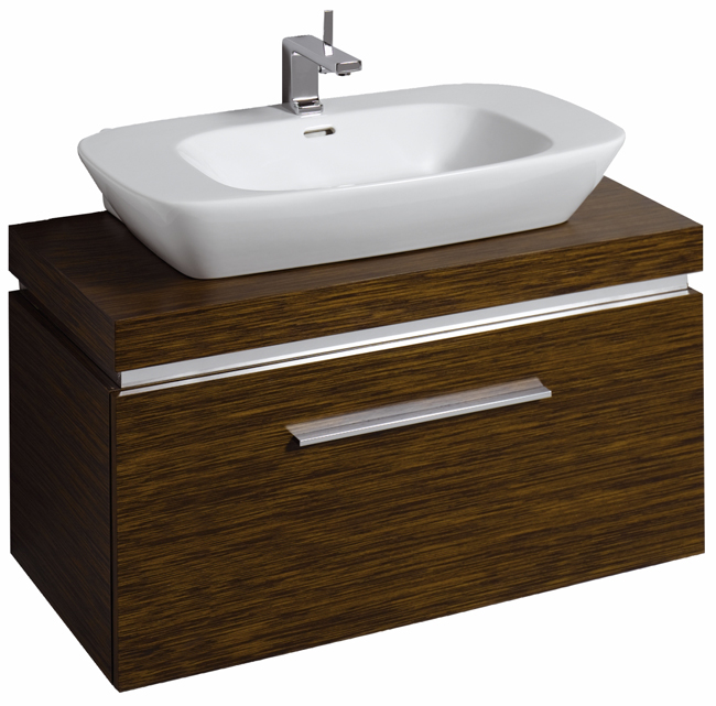 Countertop Unit : Twyford Vello 800mm Countertop Basin With 1000mm Shelf And Vanity Unit