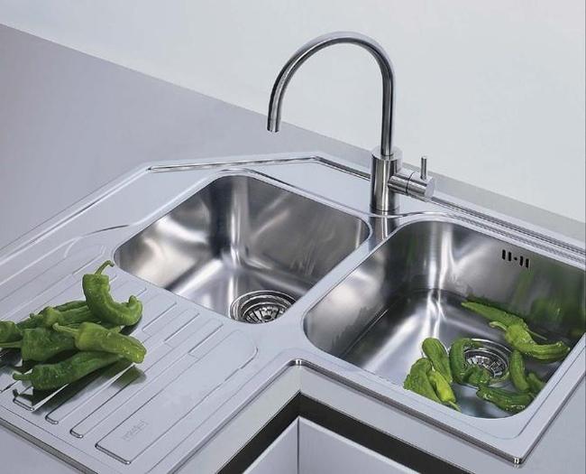 Franke Studio STX 621-E Stainless Steel Corner Inset Sink