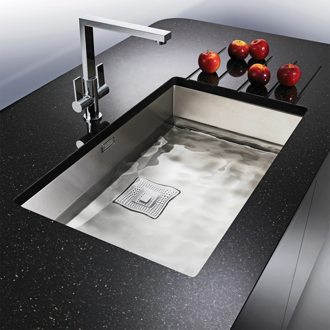 Franke Grey Sink : Franke Peak PKX 110 70 Stainless Steel 1.0 Bowl Undermount Sink