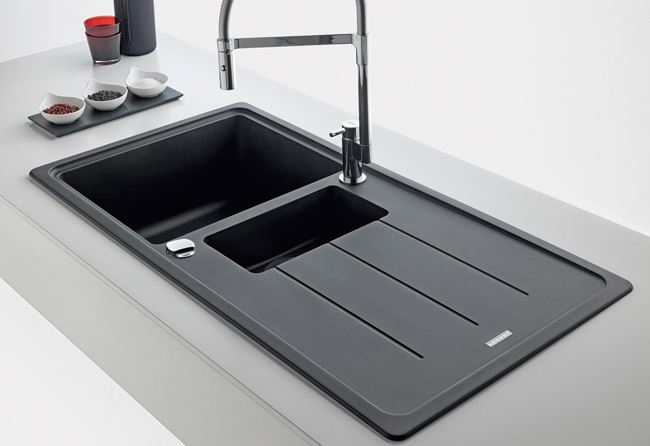 Franke Basis BFG 651 Fragranite Onyx 1.5 Bowl Kitchen Inset Sink