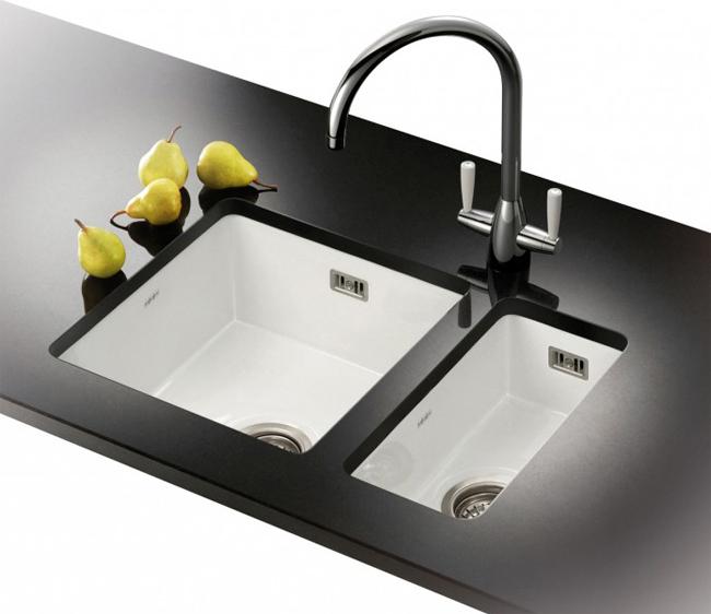 Franke Cleaners Sink : Franke Galassia GAK 110 17 White Ceramic 1.0 Bowl Undermount Sink