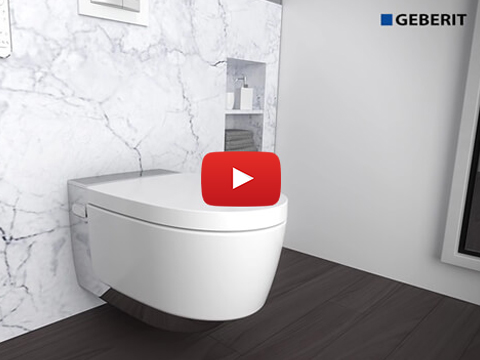 Geberit AquaClean Mera Comfort - Set-up