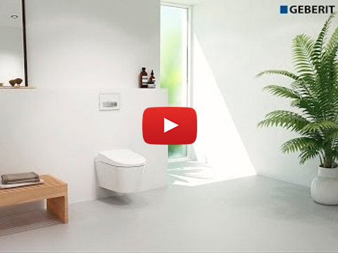 Geberit AquaClean Sela water connection 5cm – Installation
