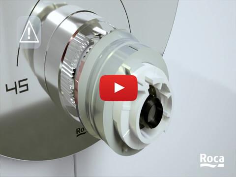 Built-in Thermostatic Mixers - Temperature adjustment | Roca