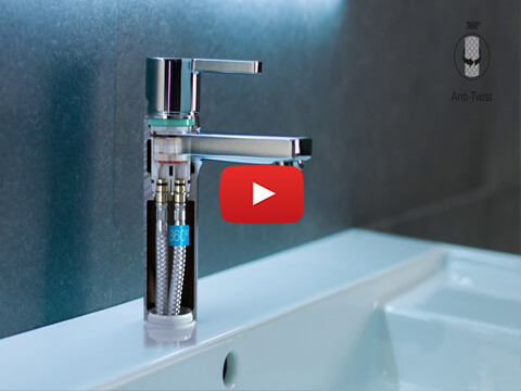 Installation of single-lever deck-mounted basin mixers | Roca