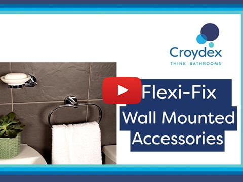 How to fit your Croydex Flexi-Fix™ Screw or Glue Wall Mounted Accessories - Installation Guide